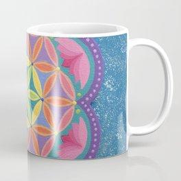Colourful Flower of Life Mandala Coffee Mug