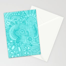 millions aqua Stationery Cards