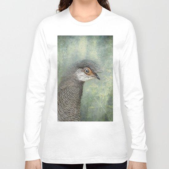Peacock Pheasant Long Sleeve T-shirt