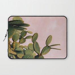 Cactus on Pink Sky Laptop Sleeve