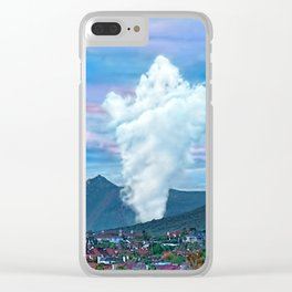 Cold Winter Morning Spectre Over Phoenix Clear iPhone Case