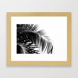 Palm Leaves Black & White Vibes #3 #tropical #decor #art #society6 Framed Art Print