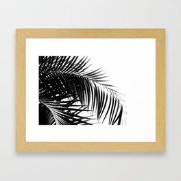 Palm Leaves Black & White Vibes #3 #tropical #decor #art #society6 Framed Art Print