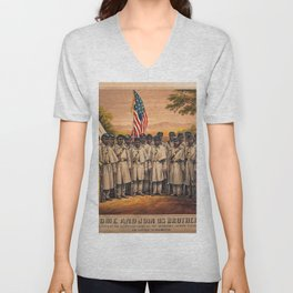 1863 Philadelphia, Pennsylvania African American Civil War Requirement Broadside Advertisement Poste Unisex V-Neck