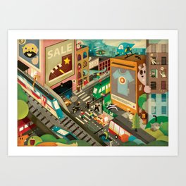 City Madness ( 2011 ) Art Print
