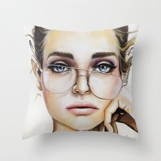 Face for NYC Throw Pillow