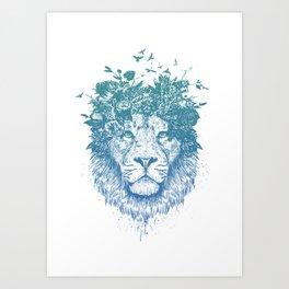 Floral lion Art Print