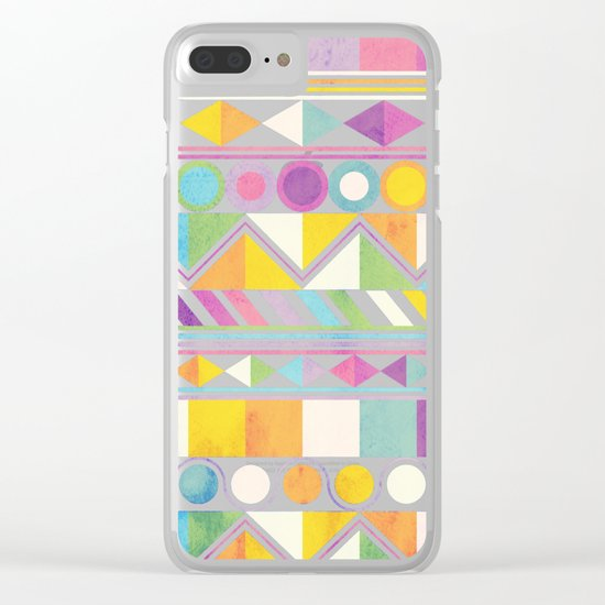Texture and Colour 1 Clear iPhone Case