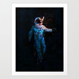 astronaut. breakthrough.  Art Print