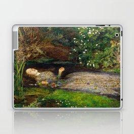Ophelia Brick Wall Painting by Sir John Everett Millais Laptop & iPad Skin