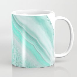 Soft Turquoise Agate Dream #1 #gem #decor #art #society6 Coffee Mug