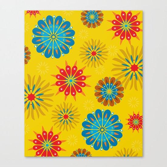 Psycho Flower Gold Canvas Print