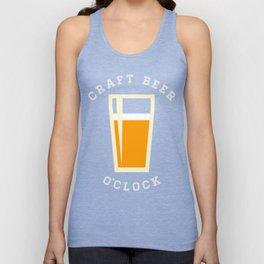 Craft Beer O'Clock Unisex Tank Top