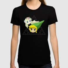 Zelink Womens Fitted Tee LARGE Black