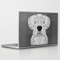 boxer Laptop & iPad Skins featuring White Boxer by ArtLovePassion