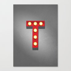 T - Theatre Marquee Letter Canvas Print