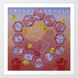 24 Cell Art Print
