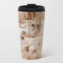 Lioness cuddle pile Travel Mug