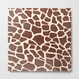 Giraffe Animal Pattern Print Metal Print