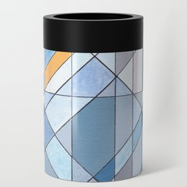 Triangle Pattern no.17 Light Blues Can Cooler