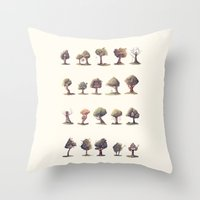 the neighbourhood Throw Pillows featuring Neighbourhood by Sam Lyne