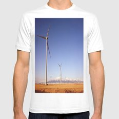 Windmill Country MEDIUM White Mens Fitted Tee