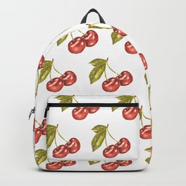Cherry Watercolor Illustration Pattern Backpack