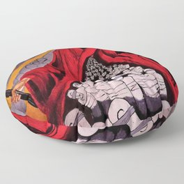 Resistencia, Fight the Power that be political oppression protest art by Rod Waddington Floor Pillow