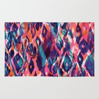 ikat Area & Throw Rugs featuring Mystical Ikat by Nikkistrange