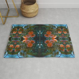 Dahlias Photographic Pattern #1 Rug