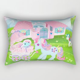 g1 my little pony stylized Sweet Stuff and baby Rectangular Pillow