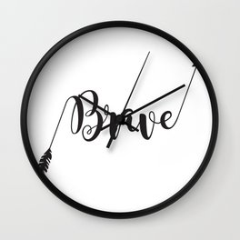 Brave Arrow Brave Warrior Little One Wall Clock
