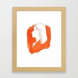 Orange Victorian Framed Art Print