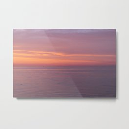 Colors of the sea at the blue hour Metal Print