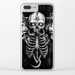 Black Sun Clear iPhone Case