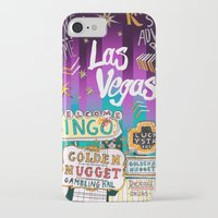 las vegas iPhone & iPod Cases featuring Las Vegas by Lera Sxemka
