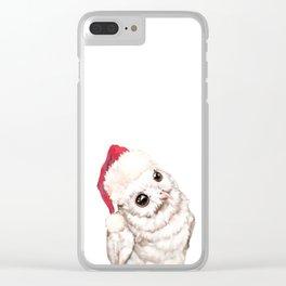 Christmas Snowy Owl Clear iPhone Case