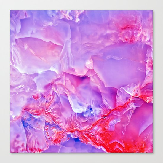 Onyx - blue and pink Canvas Print