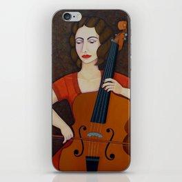 Guilhermina Suggia - Woman cellist of fire iPhone Skin