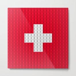 Swiss flag by Qixel Metal Print