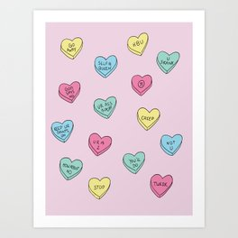 Anti Candy Hearts Art Print