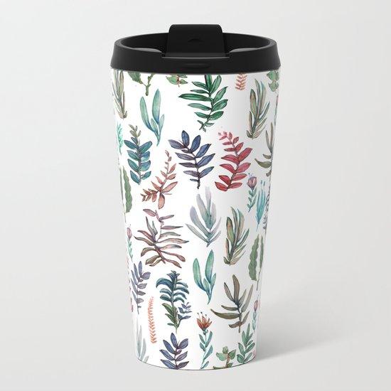 water color garden Metal Travel Mug