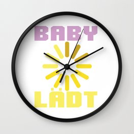 baby baby loading birth child pregnancy invites Wall Clock