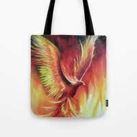phoenix Tote Bags featuring phoenix by OLHADARCHUK