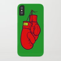 boxing iPhone & iPod Cases featuring Boxing Gloves by Artistic Dyslexia