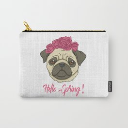 Pug Lover Hello Spring Carry-All Pouch