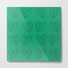 Taro Leaves Metal Print