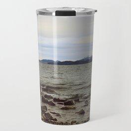 Looking at the lake Travel Mug