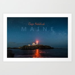 Cape Neddick - Maine. Art Print