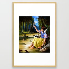 Snow White and Friends Framed Art Print